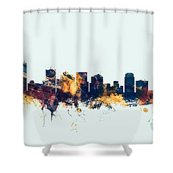 Phoenix Arizona Skyline Shower Curtain by Michael Tompsett