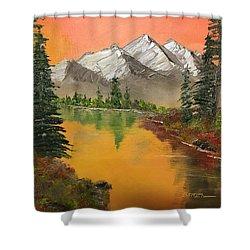 Pine Lake Shower Curtain