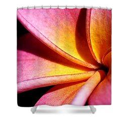 Plumeria Flower Shower Curtain