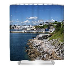 Plymouth Foreshore Shower Curtain by Chris Day