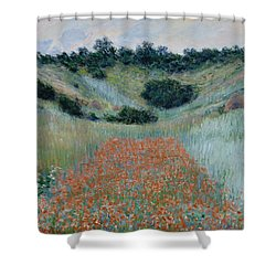 Poppy Field In A Hollow Near Giverny Shower Curtain