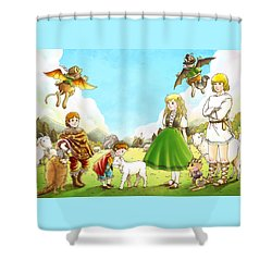 Prince Henry And Prince Richard Shower Curtain by Reynold Jay
