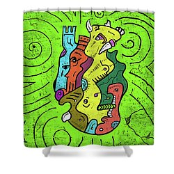 Psychedelic Animals Shower Curtain
