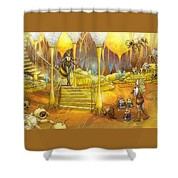 Queen Of The Hive Shower Curtain