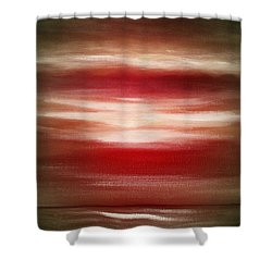 Red Abstract Sunset Shower Curtain