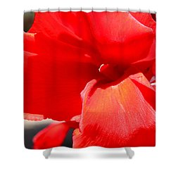 Shower Curtain featuring the photograph Red Canna by M Diane Bonaparte