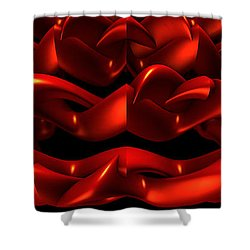 Shower Curtain featuring the digital art Red by Lyle Hatch
