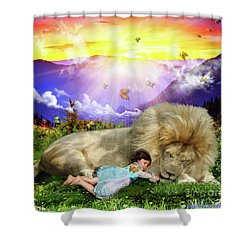 Rest  Shower Curtain by Dolores Develde