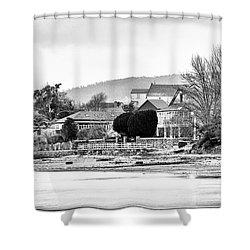 Shower Curtain featuring the photograph Ribera Maninos Fene Galicia Spain by Pablo Avanzini