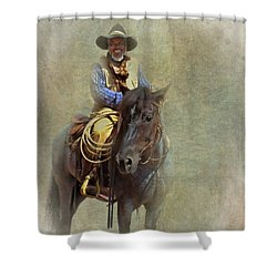 Shower Curtain featuring the photograph Ride Em Cowboy by David and Carol Kelly