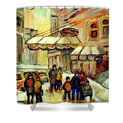 Ritz Carlton Montreal Streetscene Shower Curtain by Carole Spandau