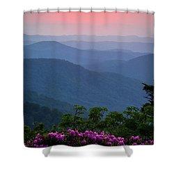 Roan Mountain Sunset Shower Curtain
