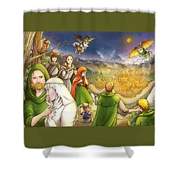 Robin Hood And Matilda Shower Curtain