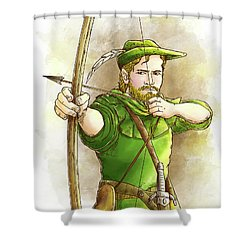 Robin Hood The Legend Shower Curtain