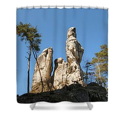 Shower Curtain featuring the photograph Rock Formations In The Bohemian Paradise Geopark by Michal Boubin
