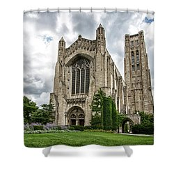 Rockefeller Chapel Chicago Shower Curtain by Mike Burgquist