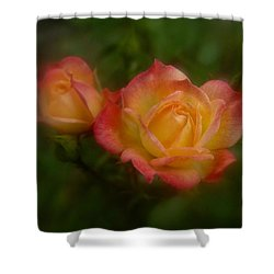 Shower Curtain featuring the photograph 2 Roses by Richard Cummings