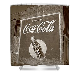 Route 66 - Coca Cola Ghost Mural Shower Curtain by Frank Romeo