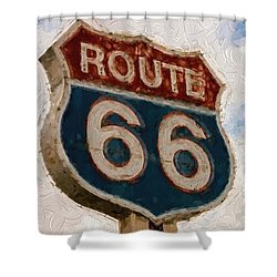 Route 66  Shower Curtain by Louis Ferreira