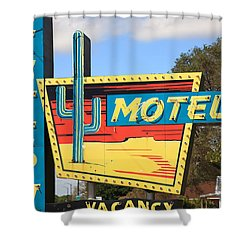Route 66 - Western Motel Shower Curtain by Frank Romeo