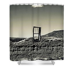 Sacred Window  Shower Curtain