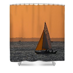 Sailboat Mount Sinai New York Shower Curtain by Bob Savage