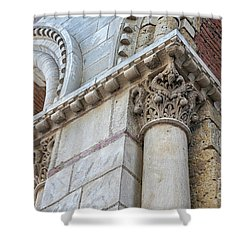 Shower Curtain featuring the photograph Saint Sernin Basilica Architectural Detail by Elena Elisseeva