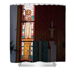 San Bernardo Abad Shower Curtain