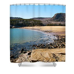 Sand Beach Acadia National Park Shower Curtain