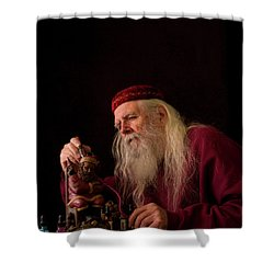 Santa's Workshop Shower Curtain