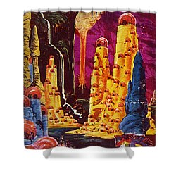 Science Fiction Magazine Shower Curtain by Granger