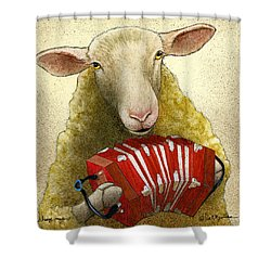 Sheep Music... Shower Curtain
