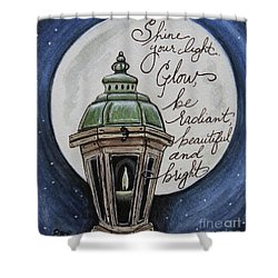 Shine Your Light Shower Curtain by Elizabeth Robinette Tyndall