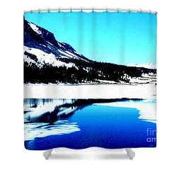Shiny Snow Magic On Lake Shower Curtain