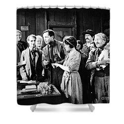 Silent Film Still: Wedding Shower Curtain by Granger