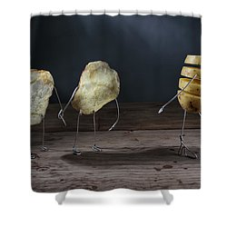 Simple Things - Potatoes Shower Curtain
