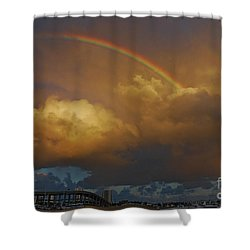 Shower Curtain featuring the photograph 2- Singer Island Stormbow by Rainbows