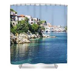 Skiathos Island, Greece Shower Curtain