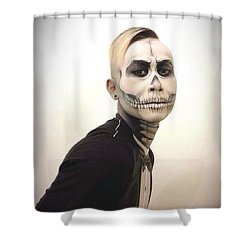 Skull And Tux Shower Curtain by Kent Chua