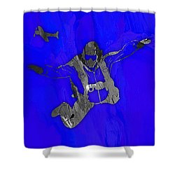 Skydiving Collection Shower Curtain
