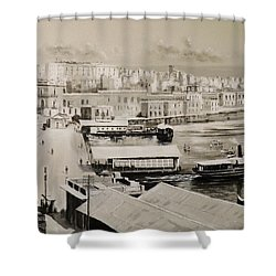 Sliema Ferries  1940 Shower Curtain