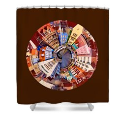 Shower Curtain featuring the photograph Spin City T-shirt by Kathy Kelly