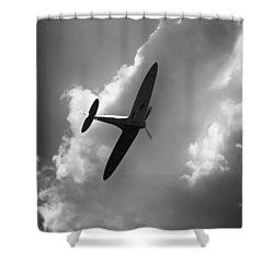 Spitfire Shower Curtain by Ian Merton