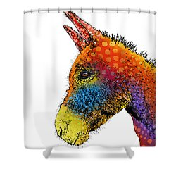 Spotted Donkey Shower Curtain