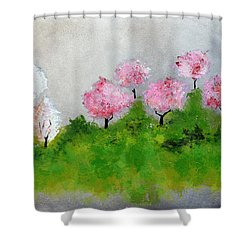 Spring Shower Curtain by Haleh Mahbod