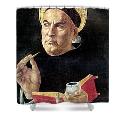 St. Thomas Aquinas Shower Curtain by Granger