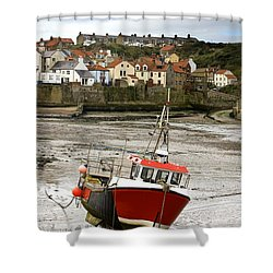 Staithes, North Yorkshire, England Shower Curtain by John Short