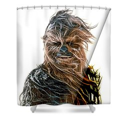 Star Wars Chewbacca Collection Shower Curtain by Marvin Blaine