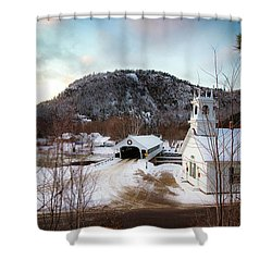 Shower Curtain featuring the photograph Stark New Hampshire by Robert Clifford