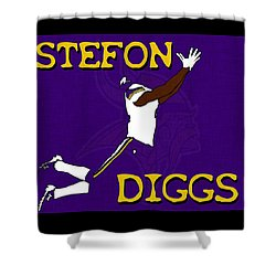 Stefon Diggs Shower Curtain